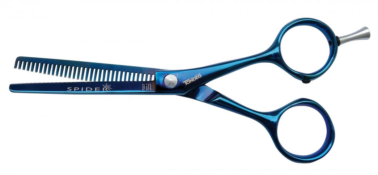 Modellierschere SPIDER BLUE mit 33 Zähnen