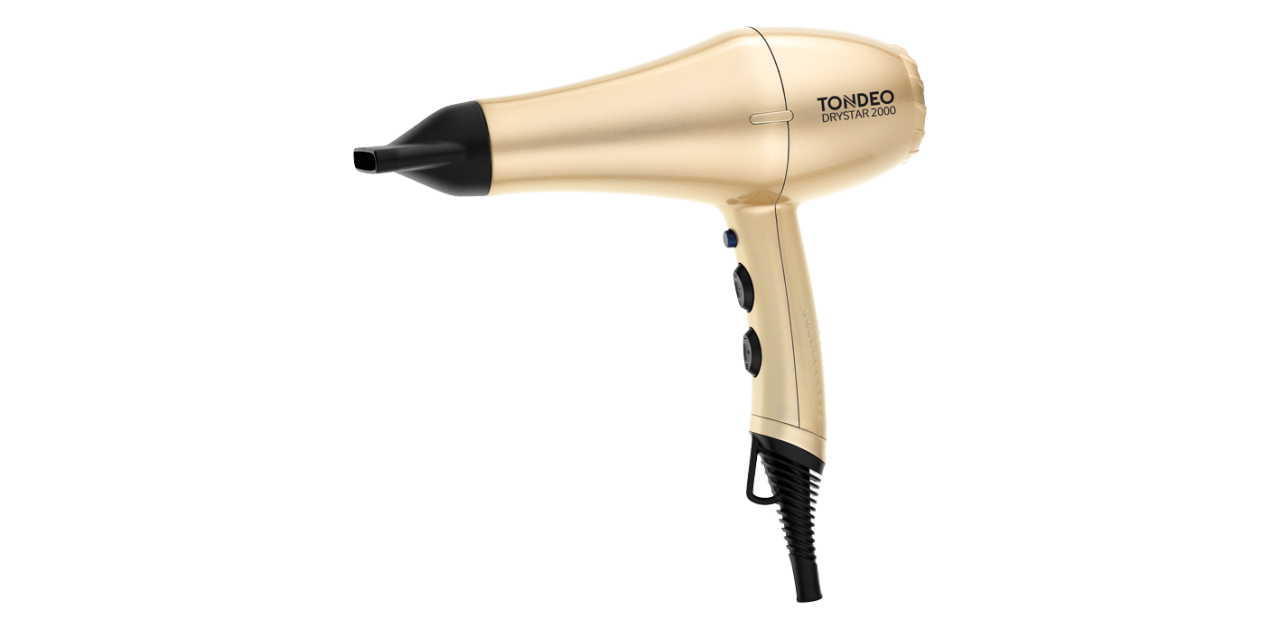 Hair Dryer TONDEO DRYSTAR 2000 GOLD