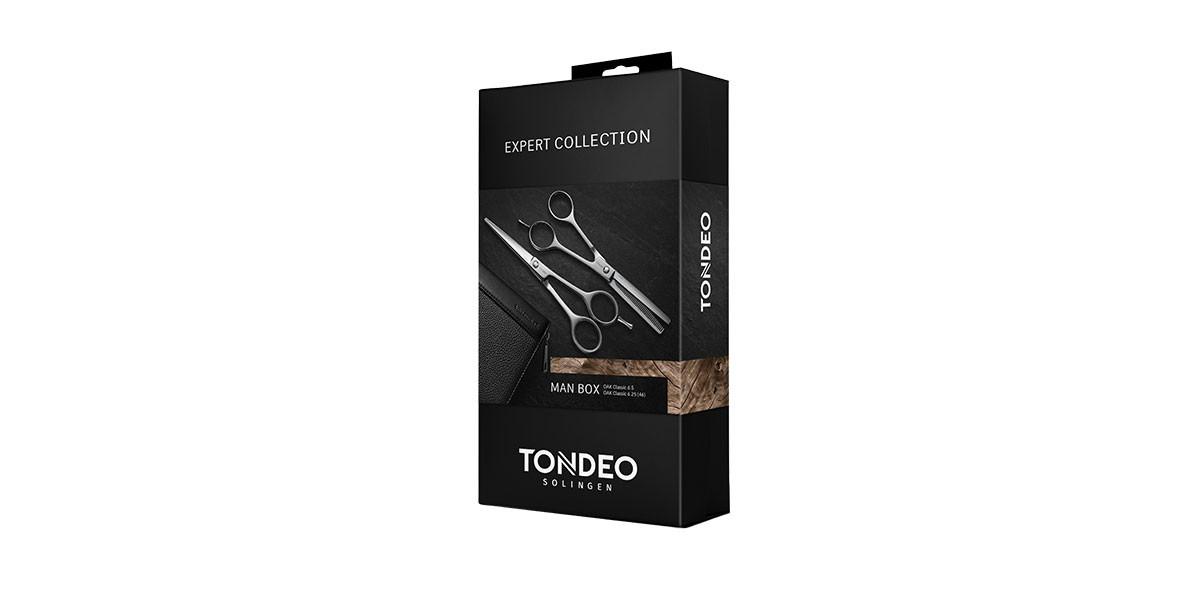 Hairdressing scissors set TONDEO BOX MAN Oak